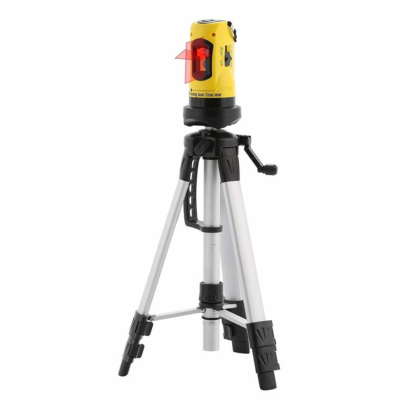 Level laser with tripod and staff